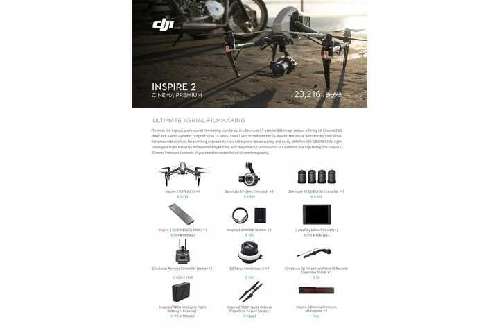 DJI Inspire 2 Cinema Premium Combo-DJI Inspire 2-DJI-Dronai.lt                             title=