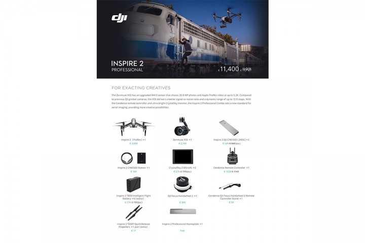 DJI Inspire 2 Professional Combo-DJI Inspire 2-DJI-Dronai.lt                             title=