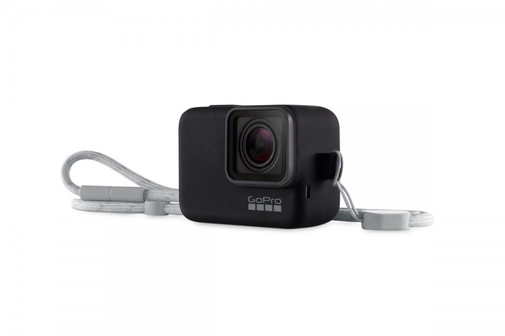 GoPro Juodas silikoninis įdėklas su virvele-GoPro-GoPro-Dronai.lt                             title=