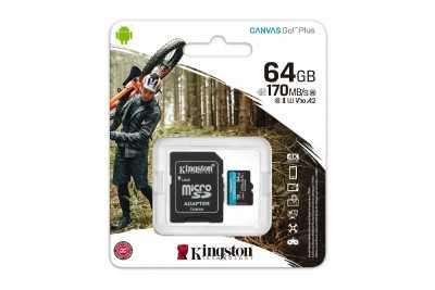 KINGSTON 64GB microSD 170R/90W