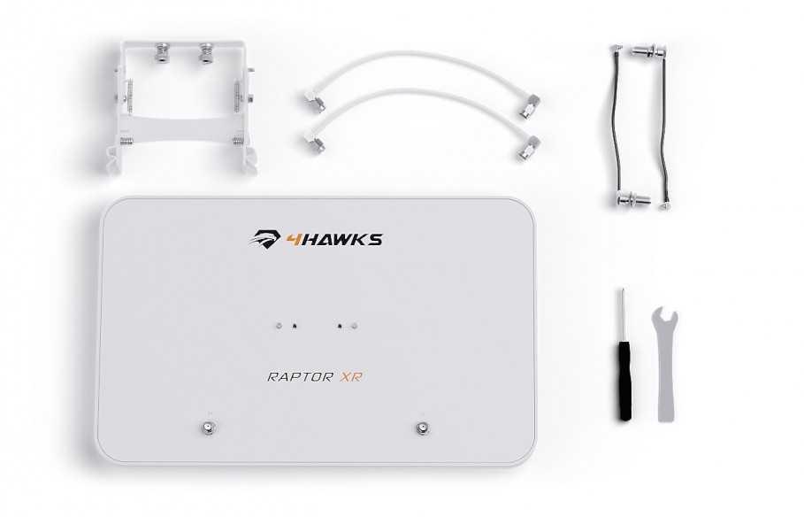 Ryšio stiprintuvas 4Hawks Raptor XR dronui  DJI Phantom 4 Pro-DJI Phantom 4-4Hawks-Dronai.lt                             title=